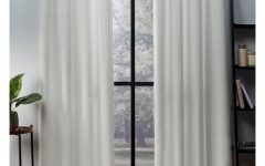 Oxford Sateen Woven Blackout Grommet Top Curtain Panel Pairs