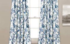 Dolores Room Darkening Floral Curtain Panel Pairs