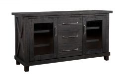 Rustic Black & Zebra Pine Sideboards