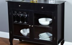 Black Sideboards With Glass Doors