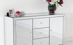 Small Mirrored Sideboard