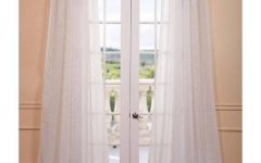 Signature White Double Layer Sheer Curtain Panels