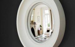 White Convex Mirrors