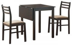 Transitional 3-Piece Drop Leaf Casual Dining Tables Set