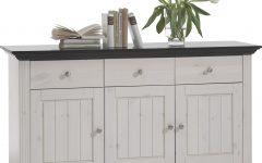 White Wash 3-door 3-drawer Sideboards