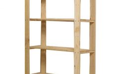 Free Standing Shelving Units Wood