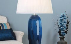 Blue Living Room Table Lamps