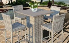 Patio Square Bar Dining Tables