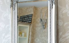 Silver Ornate Framed Mirrors