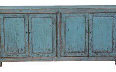 Reclaimed Pine Turquoise 4-door Sideboards