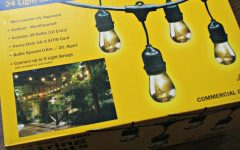 Hanging Outdoor String Lights at Costco