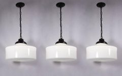 Milk Glass Pendant Lights Fixtures