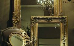 Large Antique Gold Mirrors