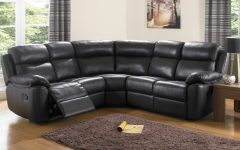 Large Black Leather Corner Sofas