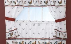 Top of the Morning Printed Tailored Cottage Curtain Tier Sets