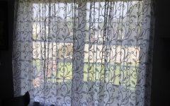 Overseas Leaf Swirl Embroidered Curtain Panel Pairs