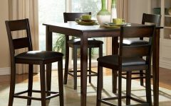Biggs 5 Piece Counter Height Solid Wood Dining Sets (Set of 5)