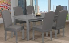 Distressed Grey Finish Wood Classic Design Dining Tables