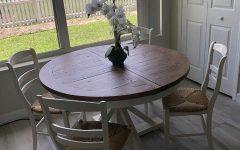 Driftwood White Hart Reclaimed Pedestal Extending Dining Tables