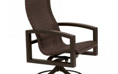 Woven High Back Swivel Chairs