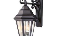 Robertson 2 – Bulb Seeded Glass Outdoor Wall Lanterns