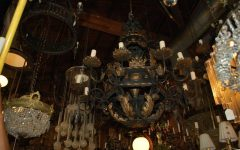 Large Iron Chandeliers