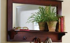 Wall Mirrors with Shelf and Hooks