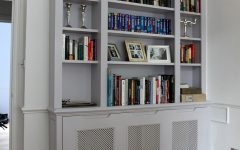 Radiator Cover With Bookcase Above