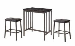 Mizpah 3 Piece Counter Height Dining Sets