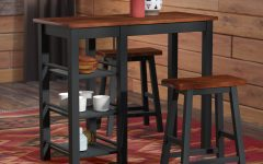Berrios 3 Piece Counter Height Dining Sets