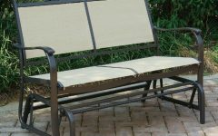 Outdoor Fabric Glider Benches