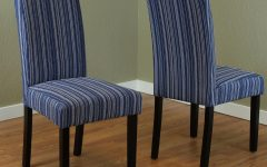 Blue Stripe Dining Chairs