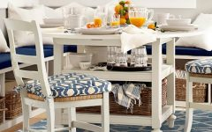 Antique White Shayne Drop-Leaf Kitchen Tables