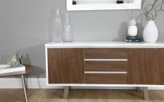 White and Walnut Sideboards