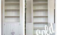 White Bookcase with Cupboard