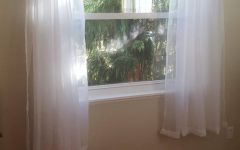 Extra Wide White Voile Sheer Curtain Panels