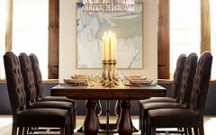 Rustic Brown Lorraine Extending Dining Tables