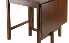 Transitional Antique Walnut Drop-Leaf Casual Dining Tables