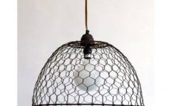Chicken Wire Pendant Lights
