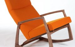 Orange Rocking Chairs Lounge Chairs