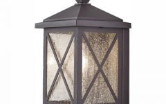 Brook Black Seeded Glass Outdoor Wall Lanterns with Dusk to Dawn